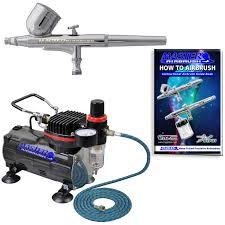 gravity dual action airbrush kit set air compressor spray auto