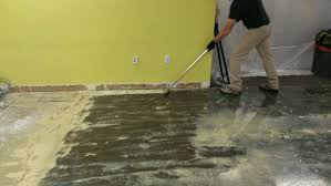 Removing Paint From Concrete Basement Floor How To Remove Carpet Off Cement Floor Www Redglobalmx Org