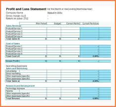 Monthly Profit And Loss Statement Template by 4 Monthly Profit And Loss Statement Template Statement Synonym