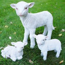 plastic resin sheep garden statues ornaments ebay