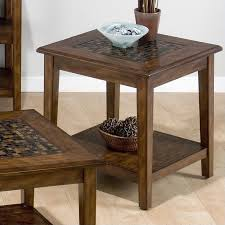 Jofran Baroque End Table With Mosaic Tile Inlay In Brown 698 3