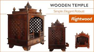 wooden temple poojaghar mandir for home crafted in solid