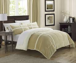 Amazon King Comforter Sets Amazon Com Chic Home 3 Piece Chloe Sherpa Comforter Set King