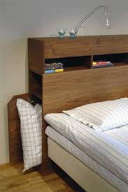 Best 25 Platform Bed With by Diy Headboard With Shelves Iemg Info