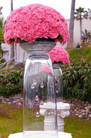 pink and black wedding and summer bouquets pink flowers