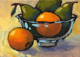 Bowl Of Fruits Bowl Of Fruit 4 Painting By Konnie Kim
