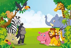 jungle backdrop huayi 5x7ft jungle safari themed animals birthday party banner