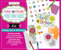 color and create your own cards boxed kit greeting cards for all