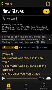 rap genius releases genius lyrics app for iphone iclarified