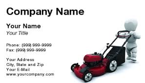 Mowing Business Cards Template At127348 With Lawnmower 02 Tif