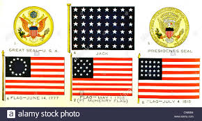 Flag Rank First Published 1917 Flag F Standard Great Seal Usa Jack