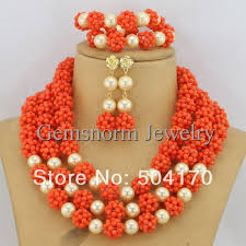 beads necklace images images Fabulous red nigerian african wedding coral beads jewelry set jpg
