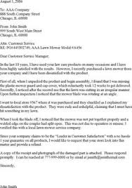 ideas of airline customer service complaint letter sample for