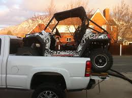 diy load rzr in truck bed and don u0027t worry about tailgate