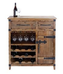 Woodland Import Wine Cabinet With Shelves Racks Utility Drawers