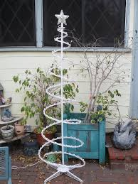 100 small spiral lighted trees metal spiral