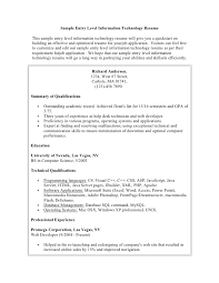 Example Summary For Resume Of Entry Level by Sample Student Resume
