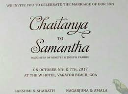 online marriage invitation wedding invitation of and chaitanya leaked online