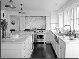 Black And White Kitchen Transitional Kitchen by White Kitchen Cabinets With Quartz Countertops Loversiq