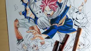 speed drawing fairy tail harvest youtube
