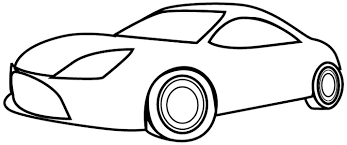 simple car coloring pages funycoloring