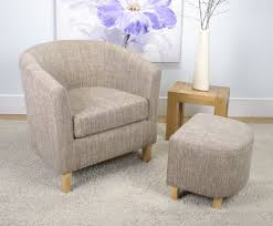 falkirk tweed fabric tub chair and stool just armchairs