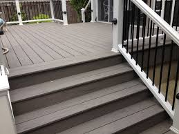 deck is double picture framed and steps are picture framed