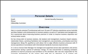 Resume Security Clearance Example by Your Resume With A Professional Format