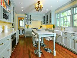 Blue Yellow Kitchen - blue and yellow country kitchen with french country kitchens on