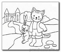 cat and rabbit coloring page preschool crafts