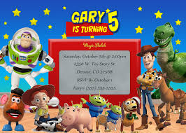 sample birthday invites toy story birthday invitations themesflip com