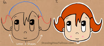 how to draw a cartoon from the word easy tutorial for