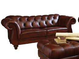 Wood Legs For Tables Dark Brown Color Modern Two Seater Leather Tufted Sofa With