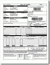 Bill Of Lading Template Excel Free Bill Of Lading