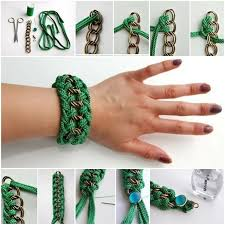 diy bracelet with chain images Creative chain and rope bracelets diy tutorials alldaychic jpg