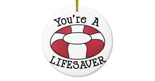 you re a lifesaver ceramic ornament zazzle