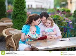 Small Beautiful Pics Beautiful Family At An Outside Cafe Stock Photo Image 43314923