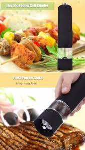 electric salt pepper mill grinder with light electric salt pepper mill grinder with led light battery operated