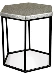 Hexagon Side Table Riverside Furniture Lyric Industrial Hexagon Side Table Wayside