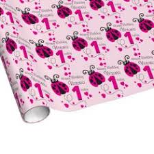 ladybug wrapping paper granddaughter name ladybug 1st birthday wrap wrapping paper