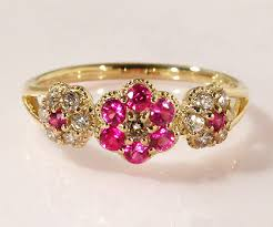 small ruby rings images Umu rakuten global market k18 ruby diamond flower ring quot parterre 39 jpg