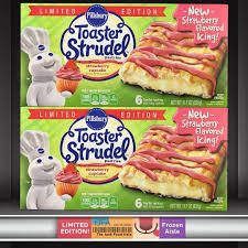 Pillsbury Toaster Strudel Flavors Strawberry Cupcake Toaster Strudels The Junk Food Aisle