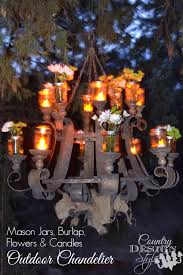 outdoor chandelier country design style