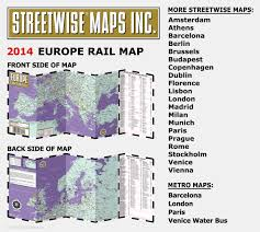 L Train Map Streetwise Europe Rail Map Laminated Railroad Map Of Europe