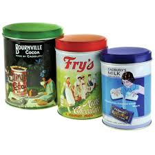 set of 3 retro cadbury collection kitchen canisters