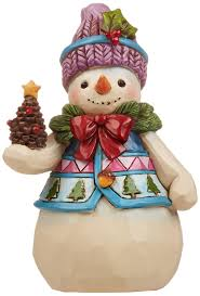 amazon com jim shore heartwood creek pint size snowman with