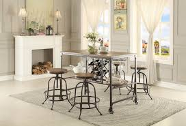 homelegance angstrom counter height table with wine rack 5429 36