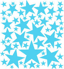 vinyl wall art stars stickers star decals star sheet