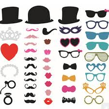 Wedding Photo Props 44pcs Photo Booth Wedding Prop Welcome Mustache Mask Props At