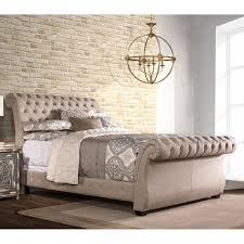 Upholstered Queen Bed Frame by Emerald Home Innsbruck Upholstered Sleigh Bed Hayneedle